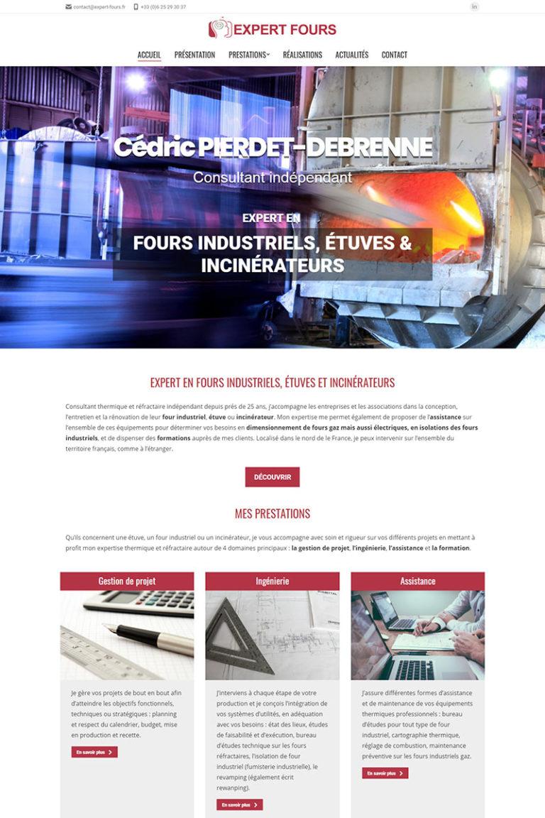 Référencement et création du site internet Expert Fours