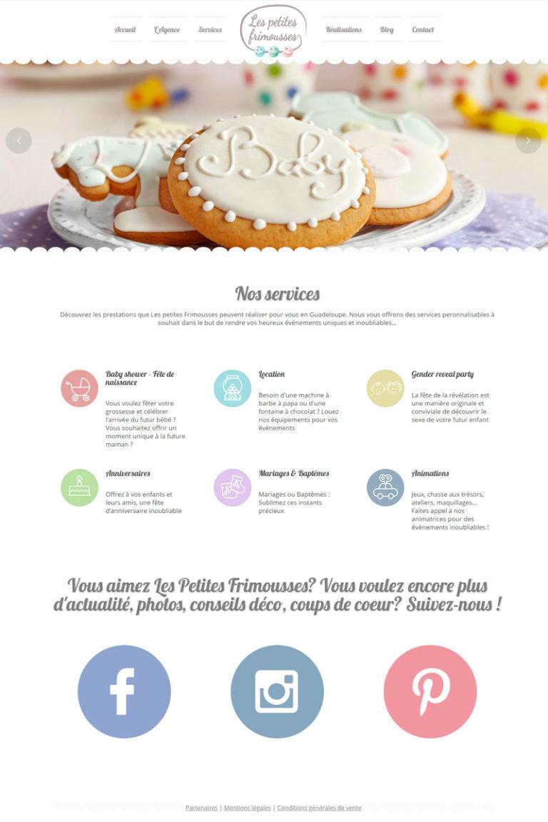 Création et référencement du site internet Les Petites Frimousses