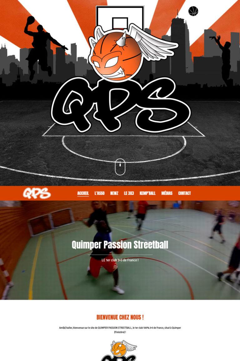 Création et référencement du site internet Quimper Passion Streetball