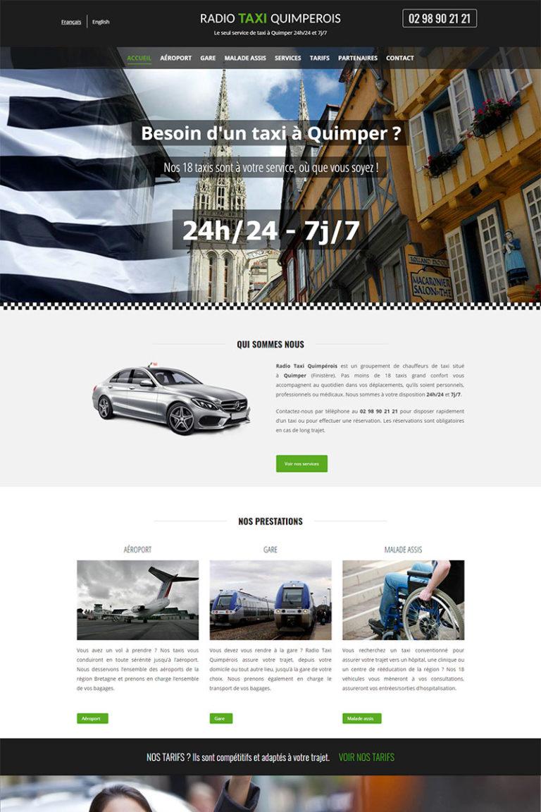 Création et référencement du site internet Taxi Quimper
