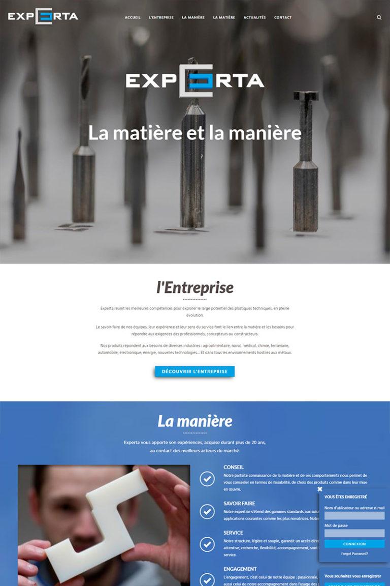 Développement et Intégration du site internet Experta