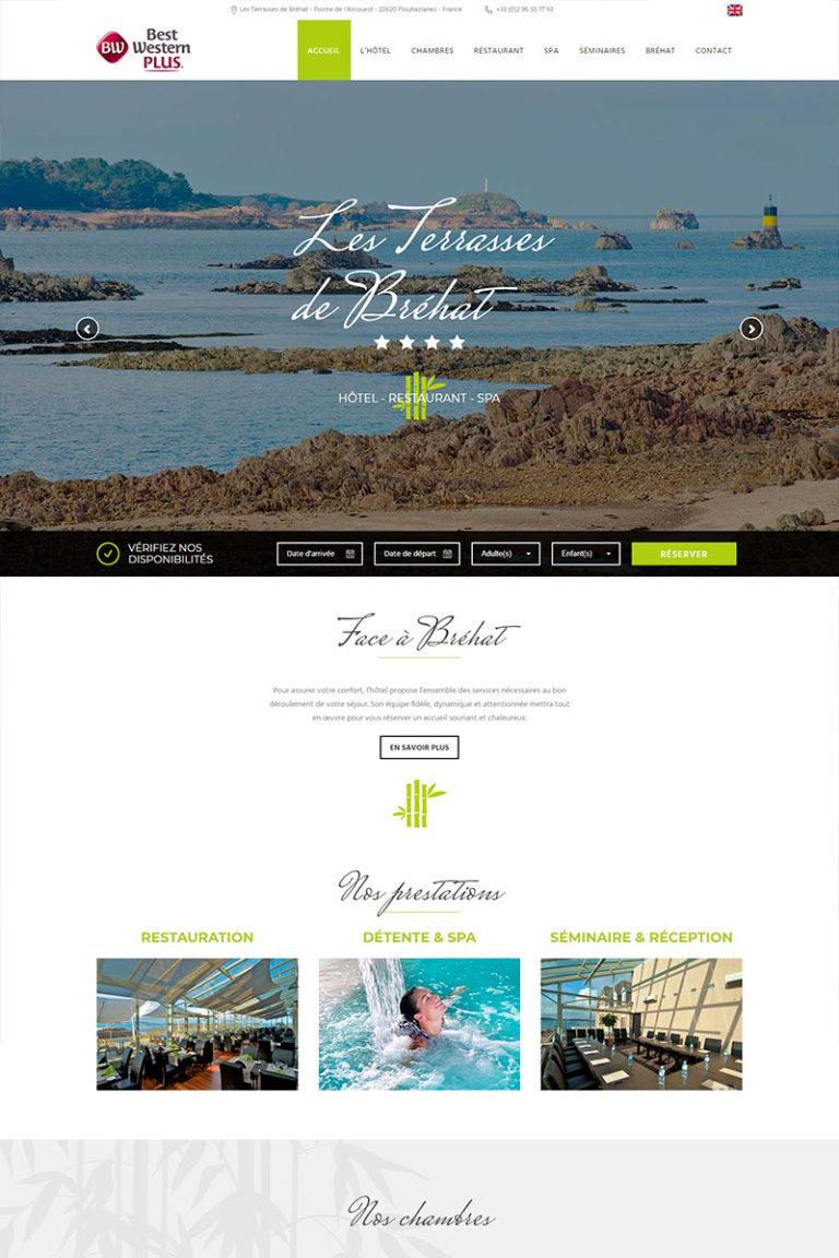 Développement et Intégration du site internet Les Terrasses de Bréhat