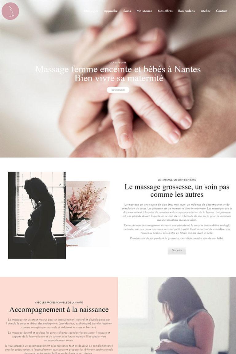 Développement et Intégration du site internet Lila LEFEUVRE