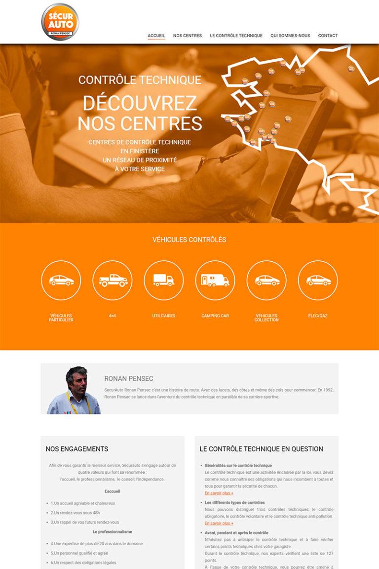 Développement et Intégration du site internet SecurAuto