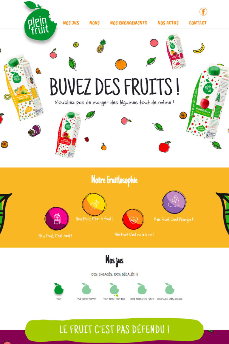 Développement et Intégration du site internet Plein Fruit