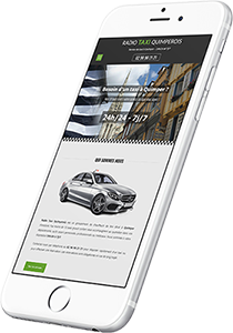 Mockup iPhone site internet Taxi Quimper