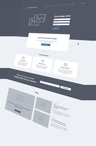 Wireframe - Création de site internet