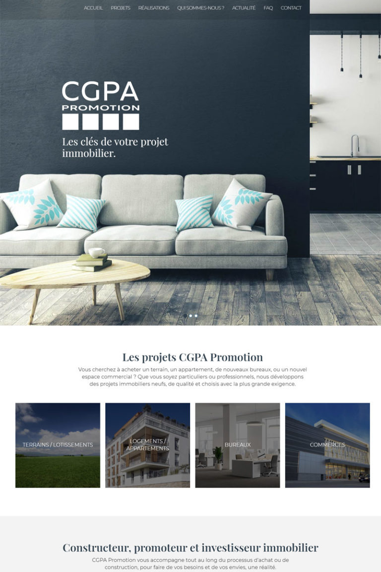 Refonte et référencement naturel du site internet CGPA Promotion