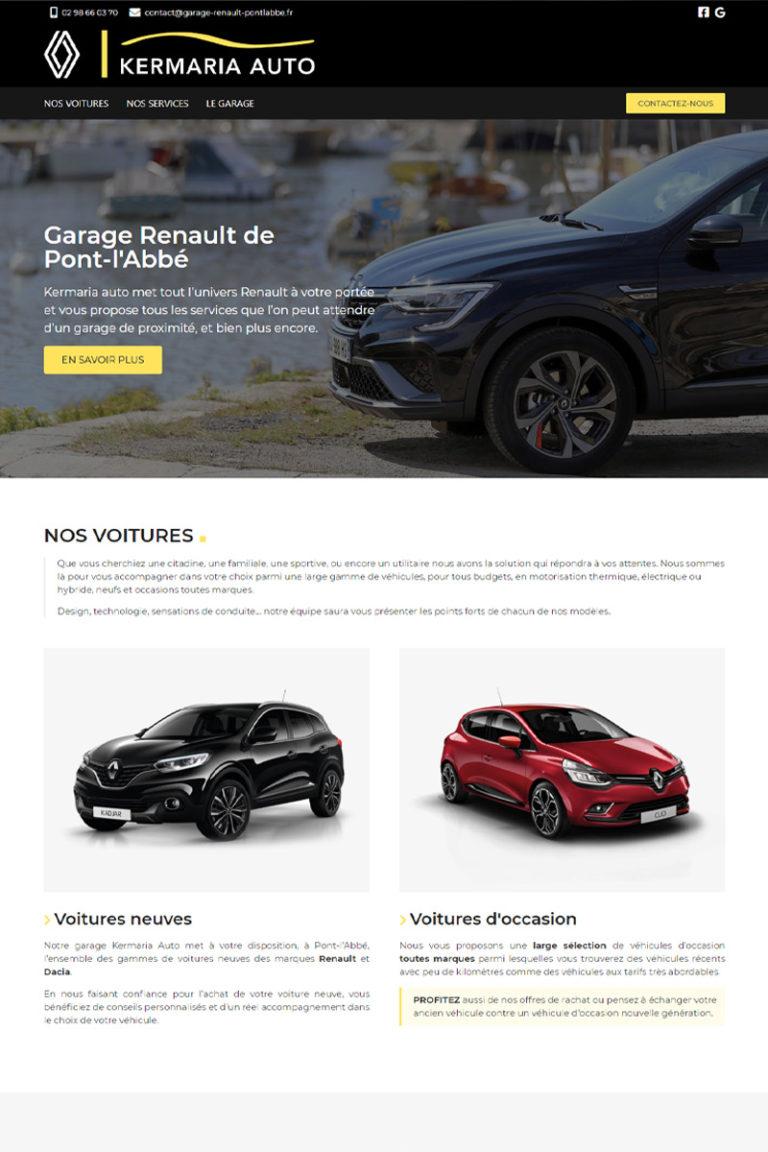 Création du site internet du garage Renault de Pont l'Abbé