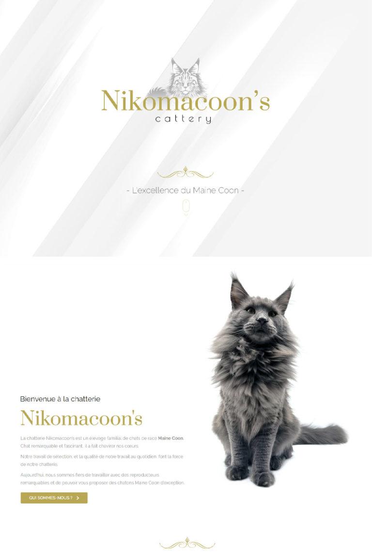Création du site internet Nikomacoon's Cattery
